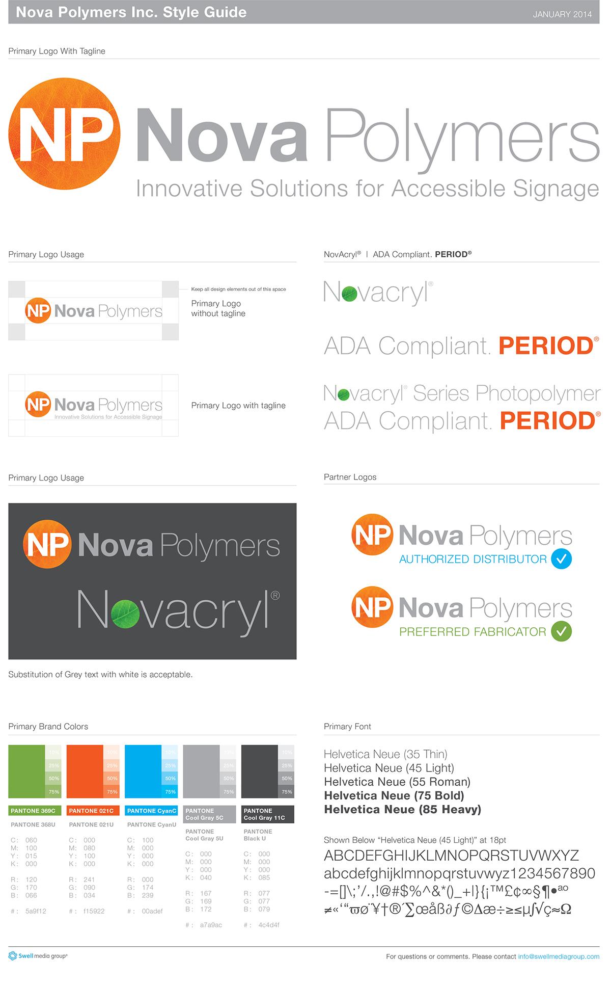 Nova Polymers brand style guide