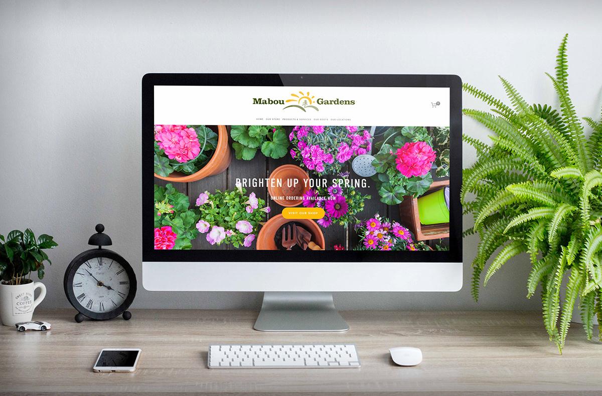 Adobe Portfolio e-commerce Website Flowers garden flower baskets landscaping