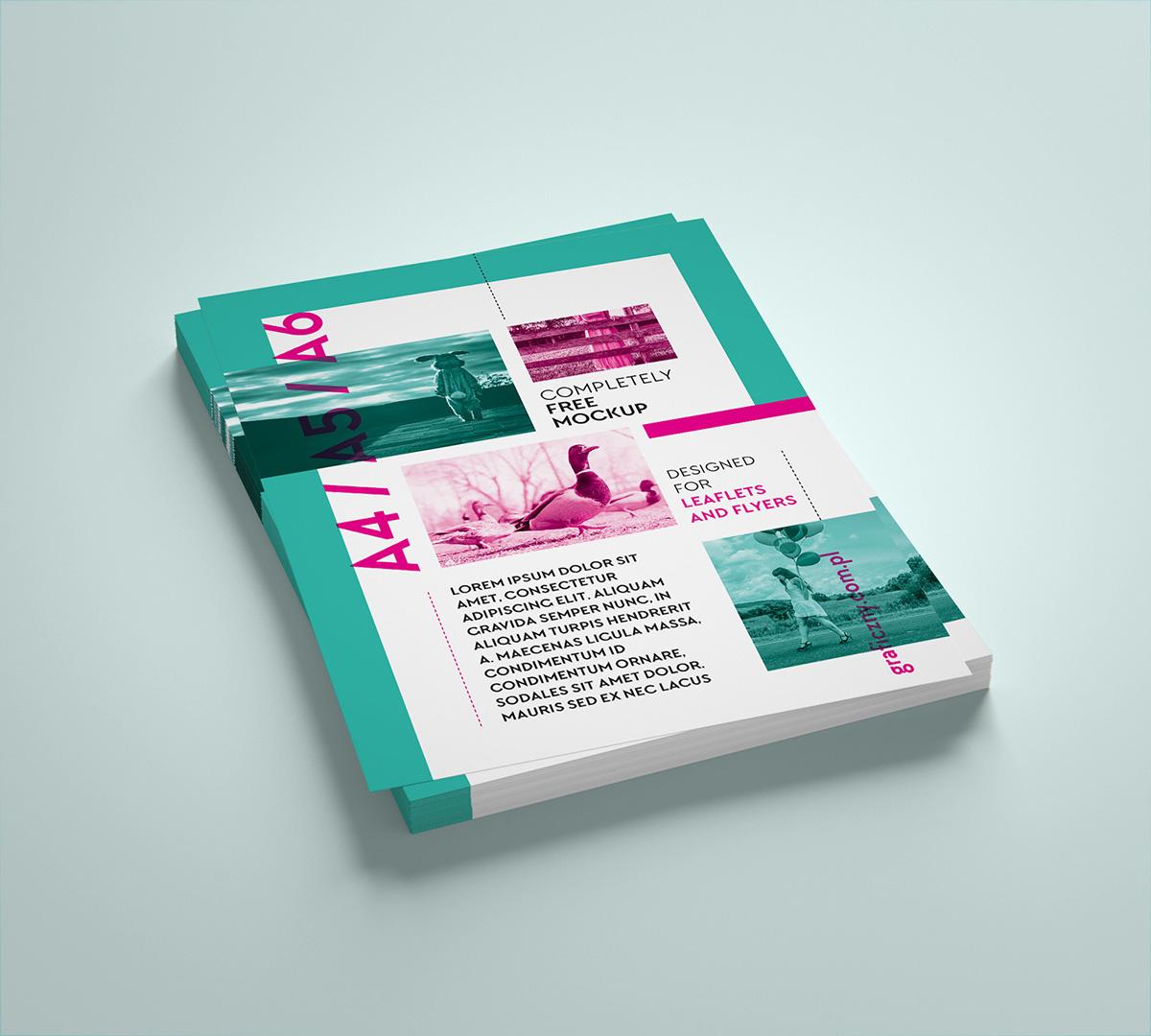 free vertical leaflet mockup on behance
