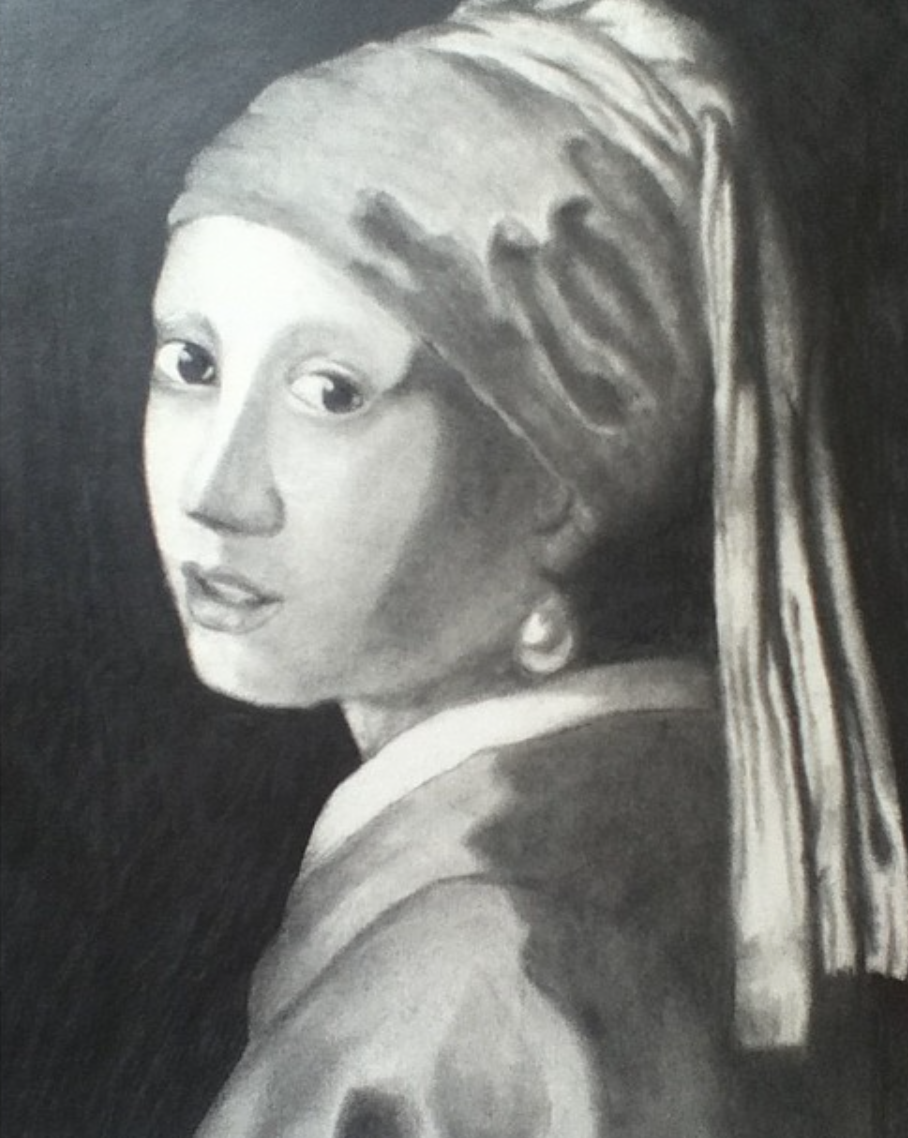 Girl With A Pearl Earring Pencil Drawing On Behance