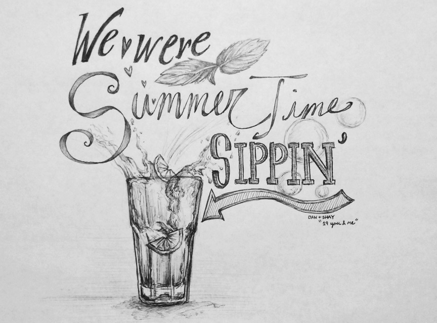 lyric series summertime sippin on behance
