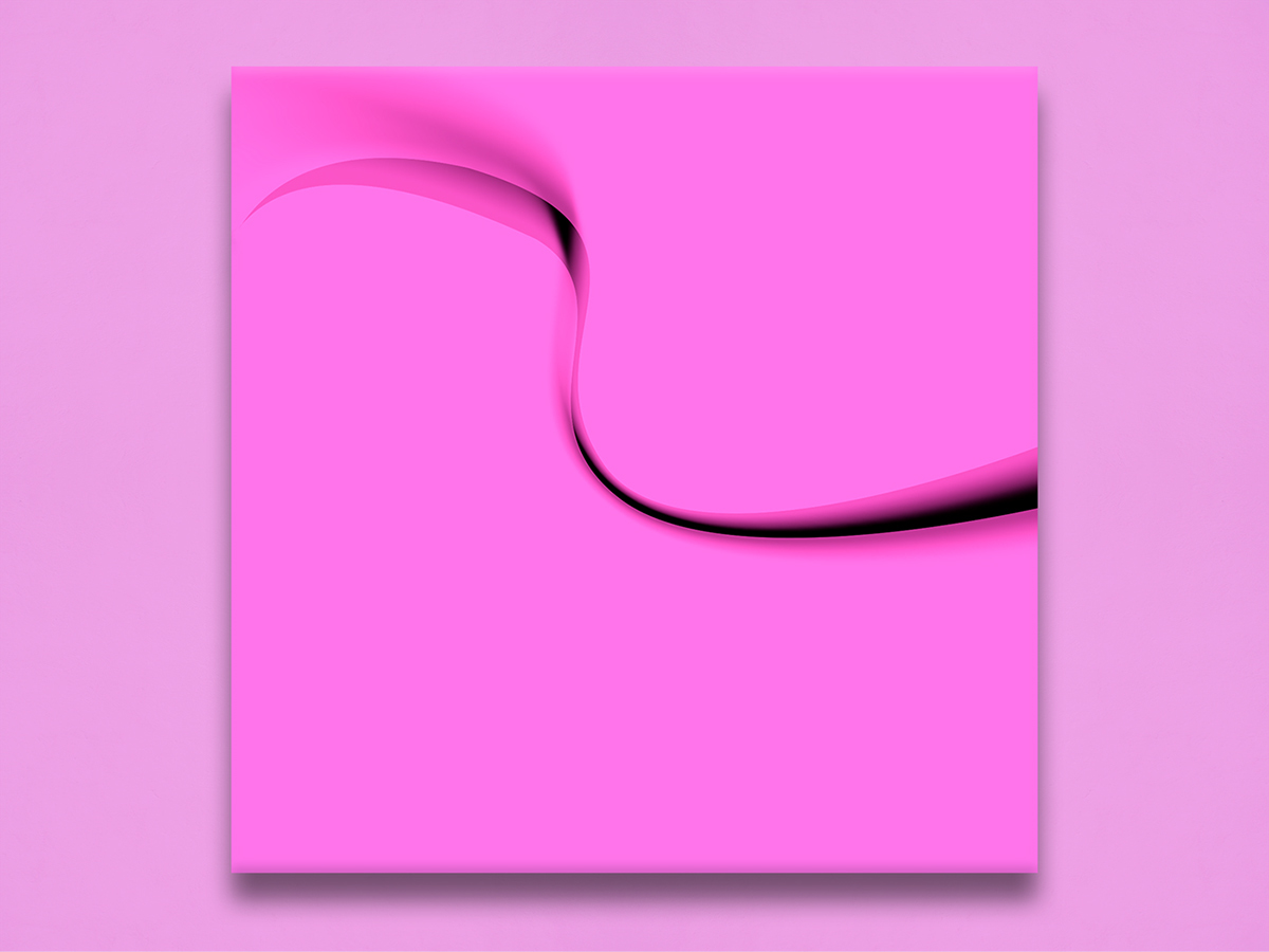 pink abstract minimal