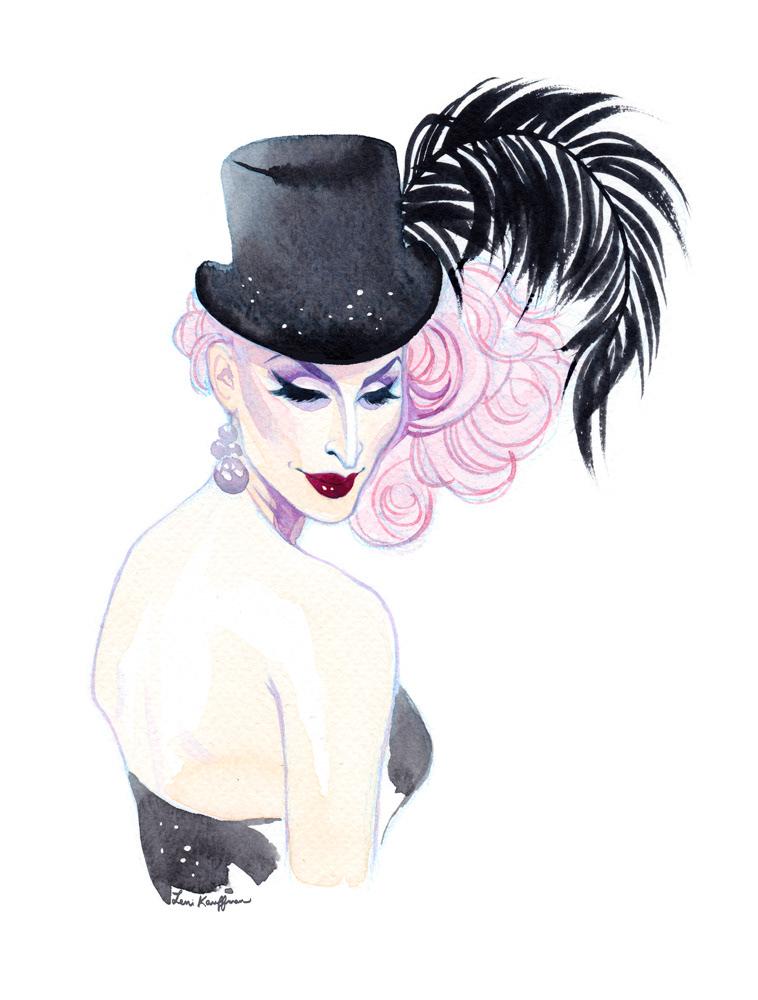 drag queen Drag ILLUSTRATION  portrait watercolor fashion illustration queen