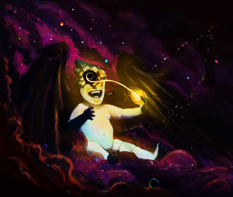 Space  angel destruction blackhole