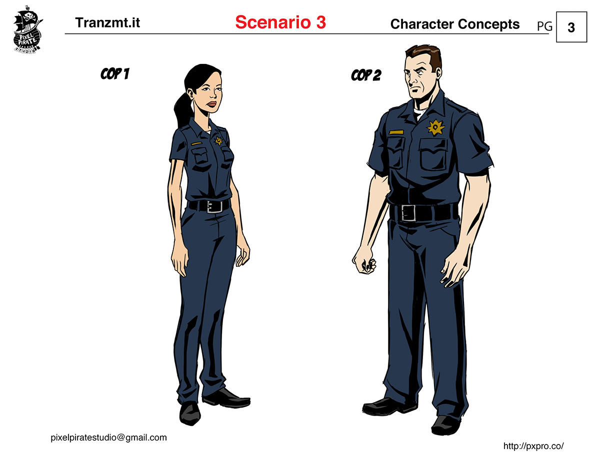 character designs turnarounds
