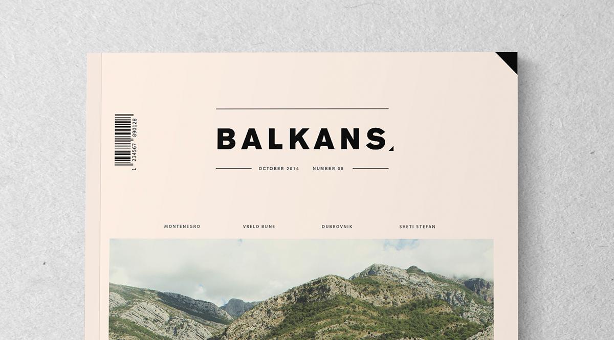 Balkans magazine design