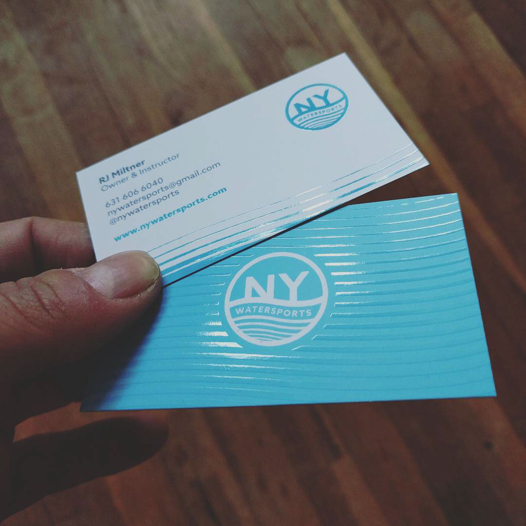 Ny Watersports Logo Business Cards On Behance