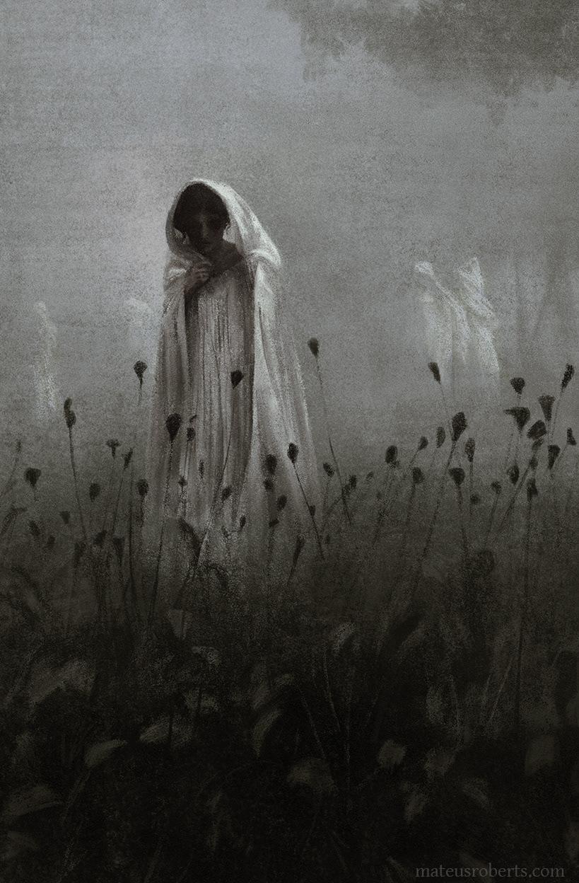 creepy dark eerie horror ILLUSTRATION  Moody spooky