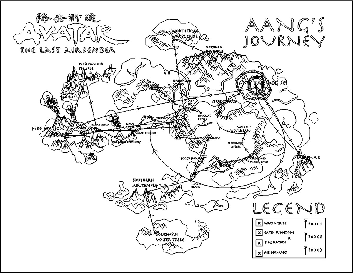 Avatar The Last Airbender Map on Behance