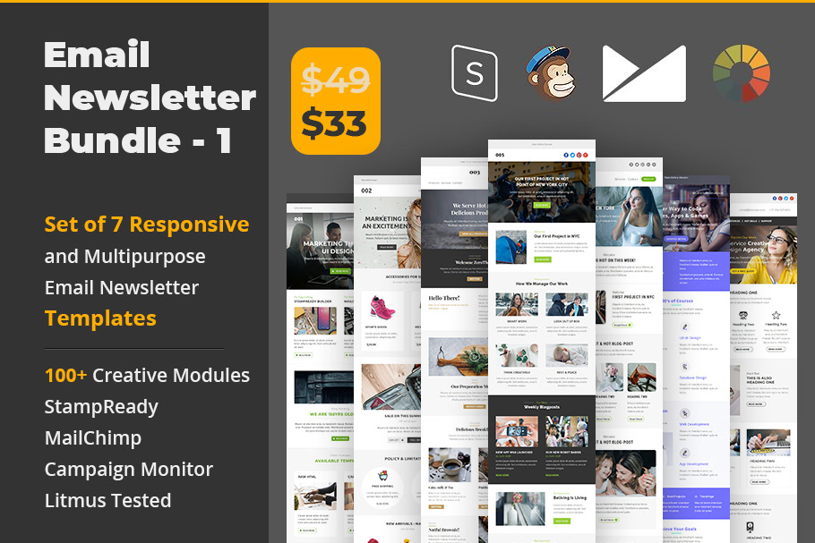 Email Newsletter Template Bundle On Behance