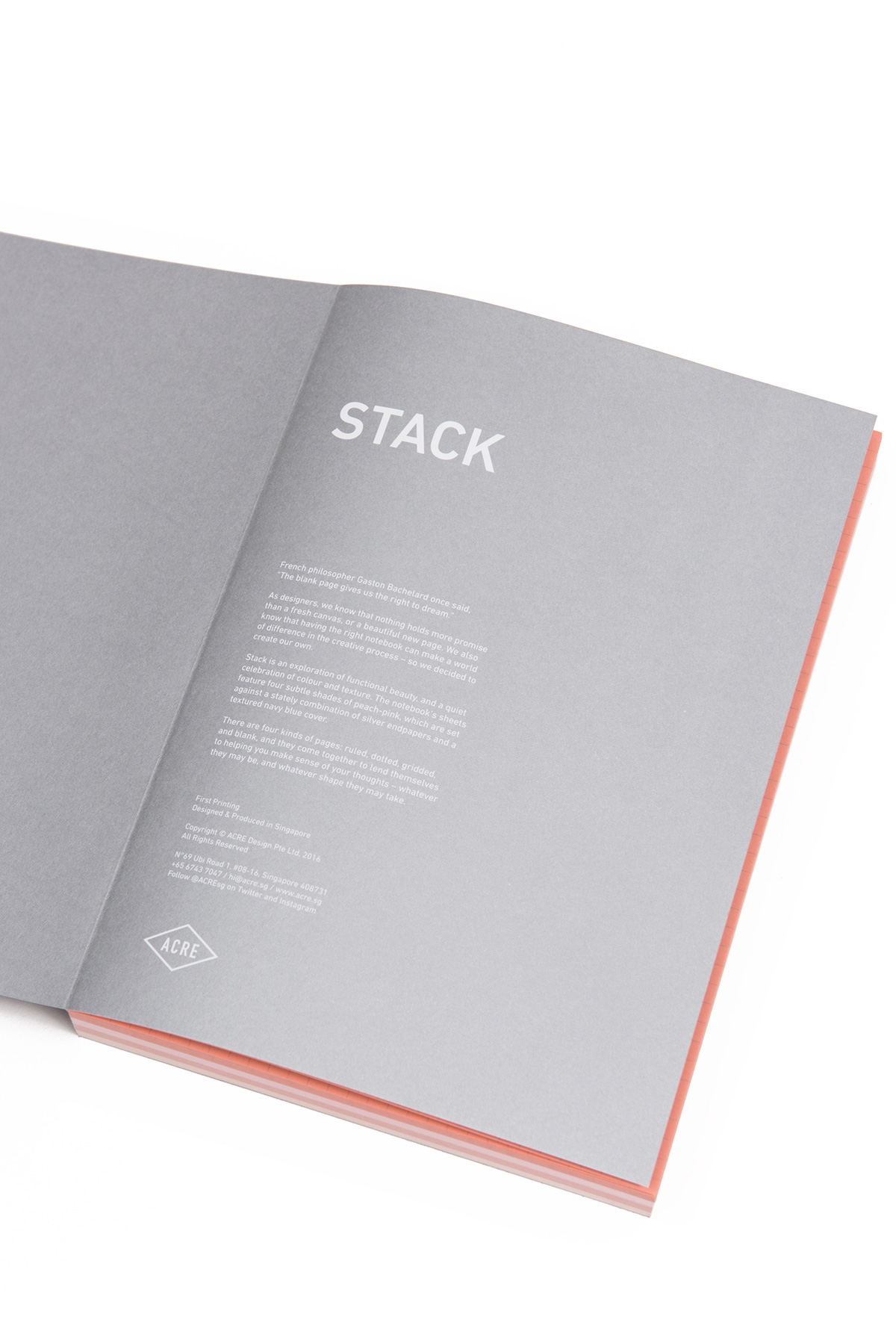 Stack Notebook Design