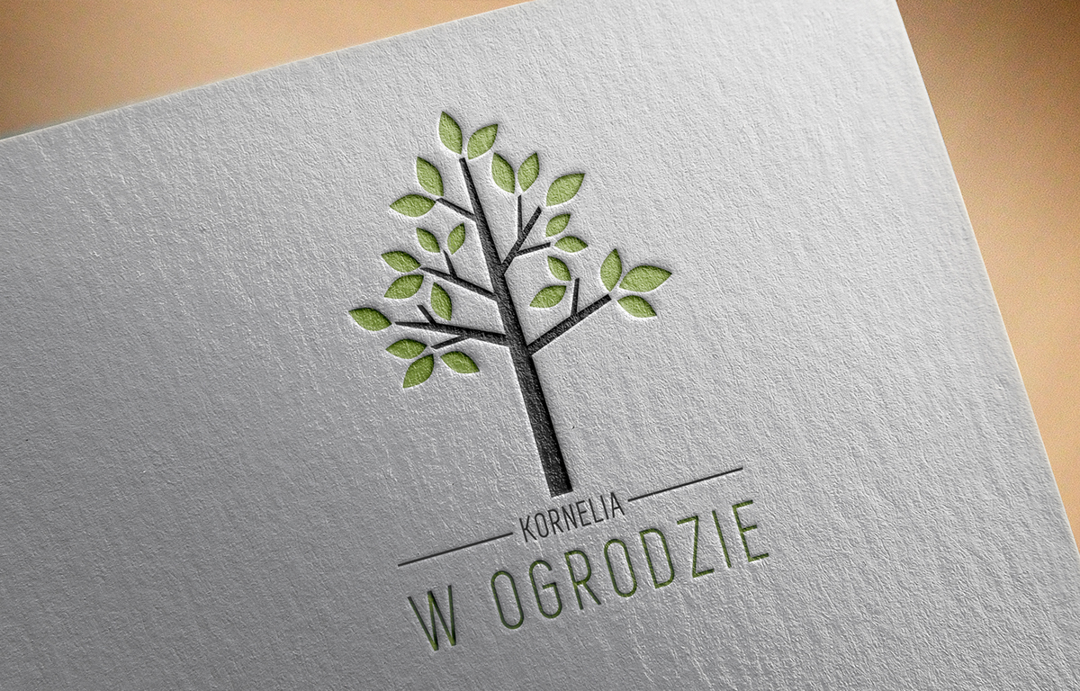 Branding for gardening company on student show business card and logo design for gardening company kornelia w ogrodzie based in poland magicingreecefo Image collections