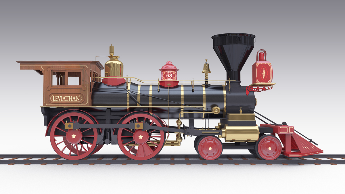 Leviathan Steam Train - 3D Model on Student Show
