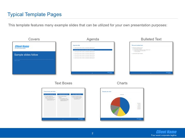 Corporate Ppt Template Instructions Library On Behance