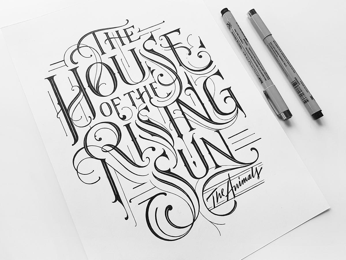 HAND LETTERING Handlettering Custom Lettering lettering type letters monogram capital letter vintage ink type design sketchbook sketch