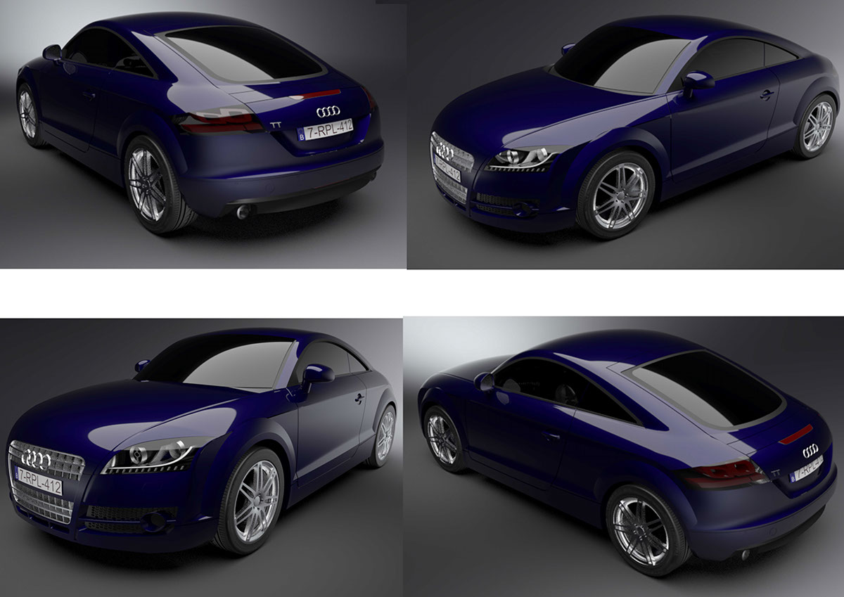 Audi TT D Model On Behance - Audi car 3d