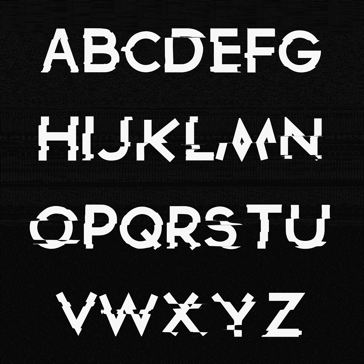 Download Glitched Font on Behance