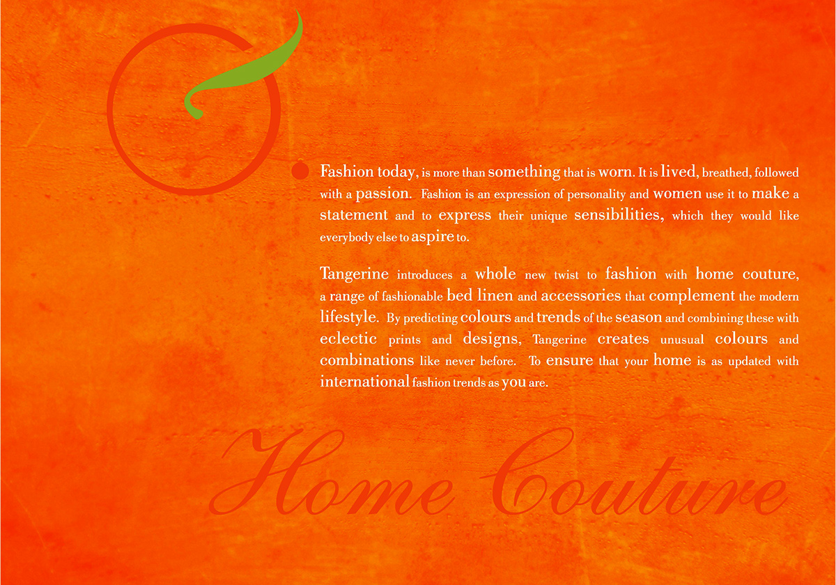 tangerine look book on behance