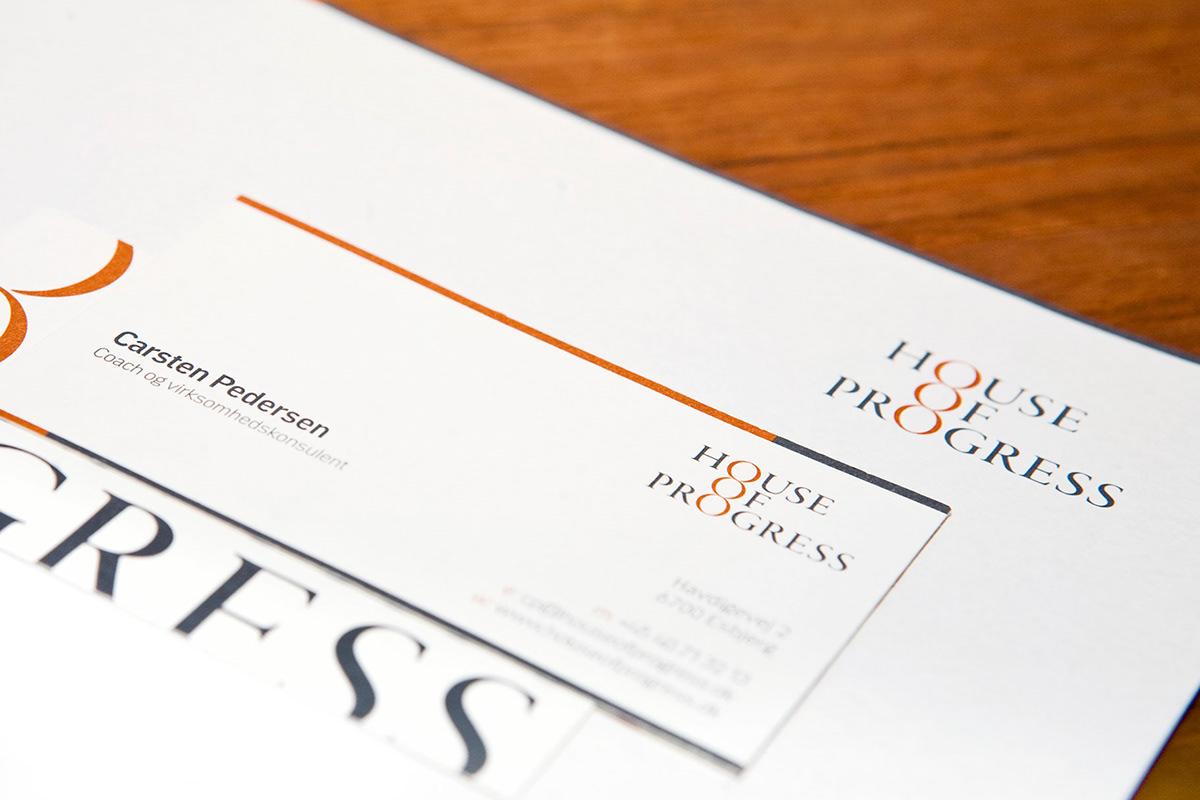 graphic design  House of progress identity logo