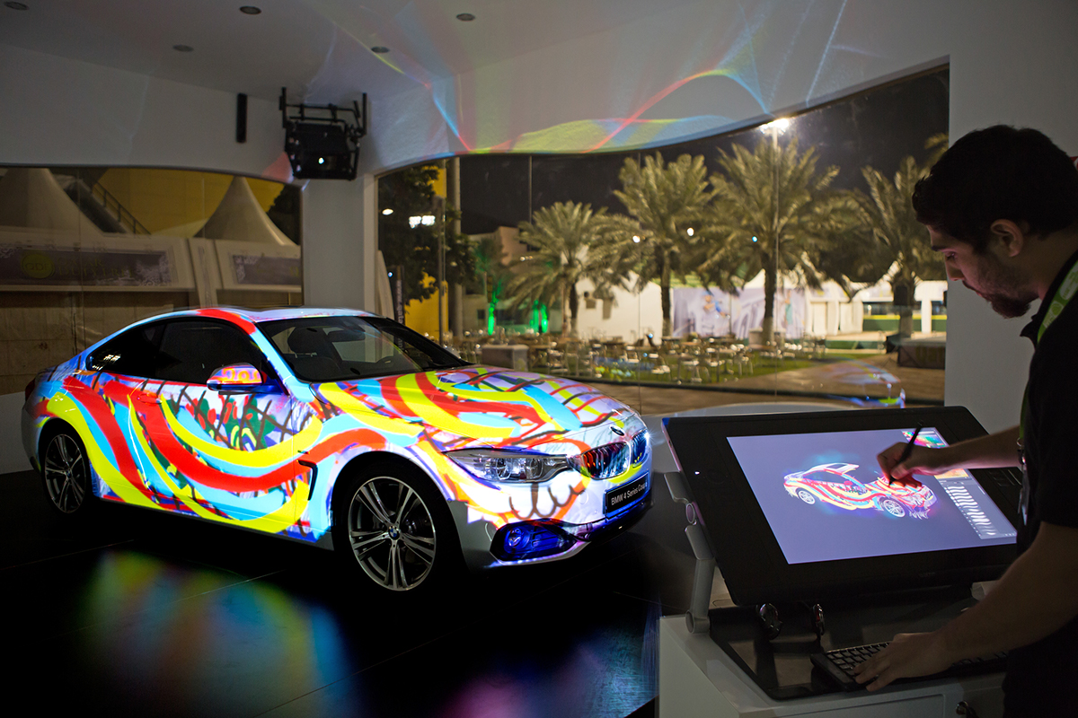 Interactive 3d car mapping with drawing feature