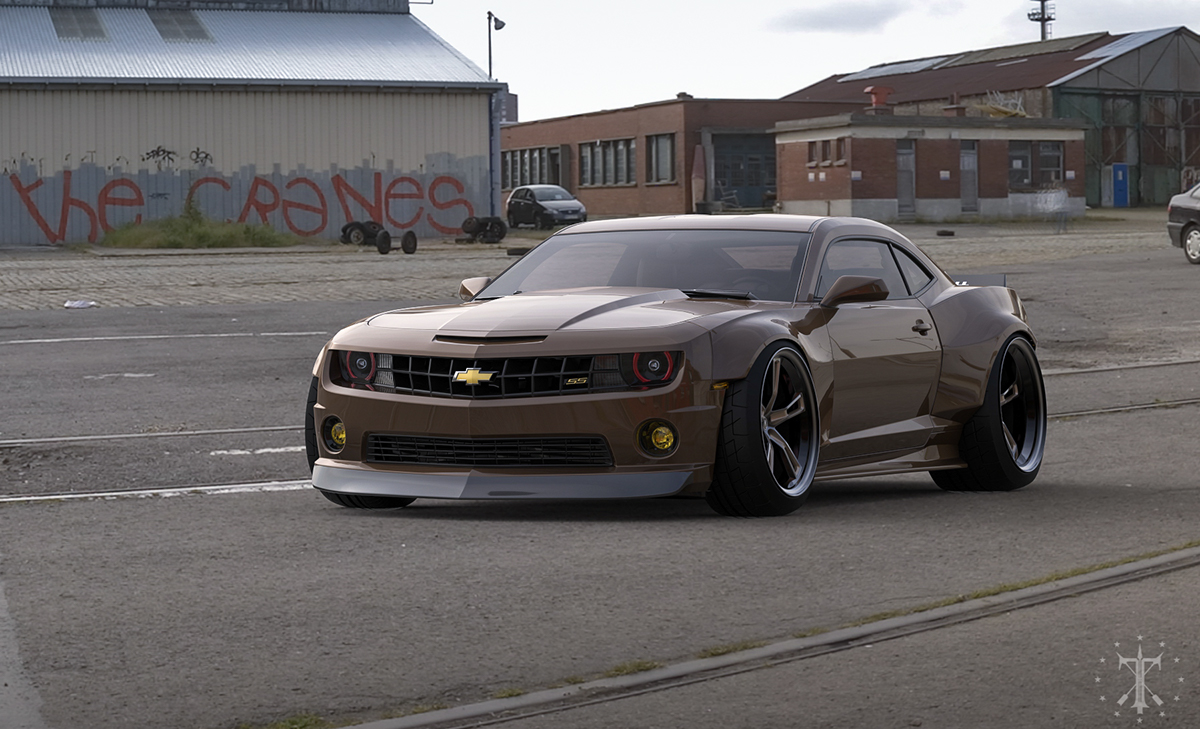 chevy camaro ss body kit virtual on behance. Black Bedroom Furniture Sets. Home Design Ideas