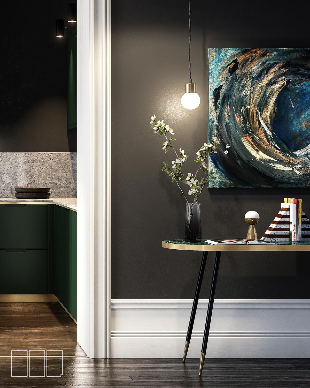 vray 3D Render rendering lighting styling  Interior Desing newyork property luxury designer furnature pendant canvas 3dsmax