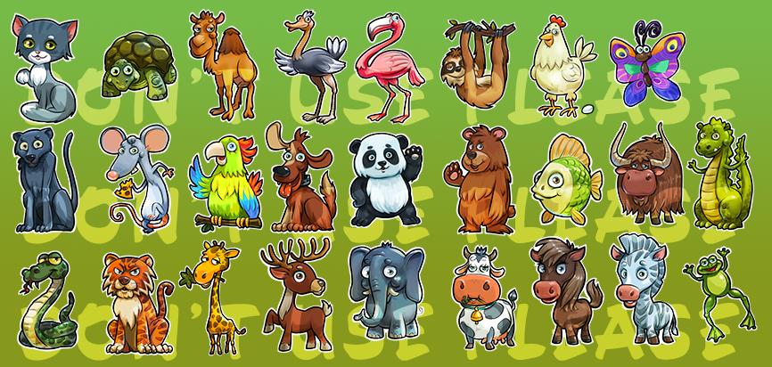 cartoons animals photoshop on behance