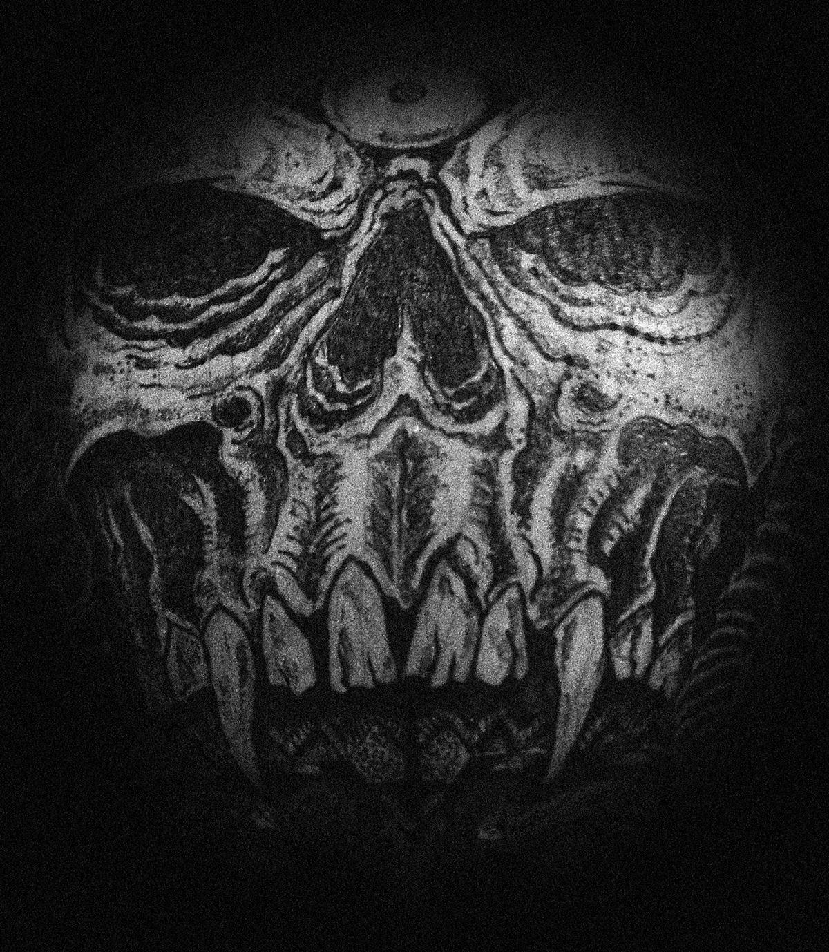 believethedogma skateboard wall Lamp santacruz skull devil prist girl Mouth ritual death dark surrealism