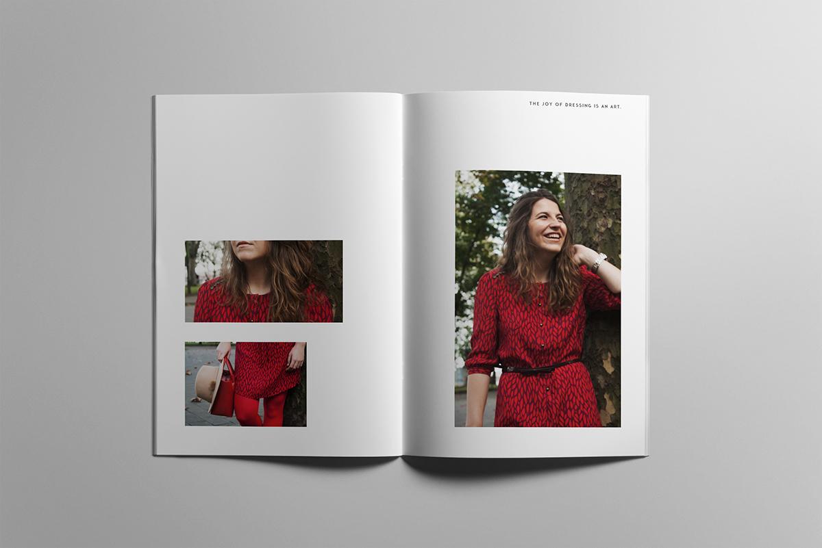 diseño gráfico magazine Catalogue photo clothes
