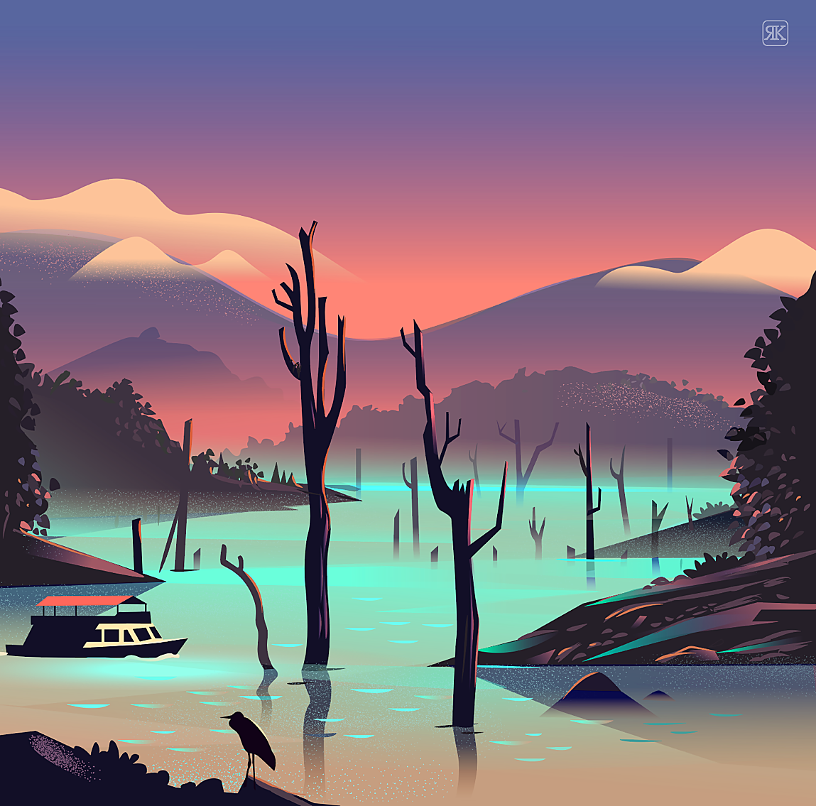 Illustration Series: The Road Trip by Ranganath Krishnamani