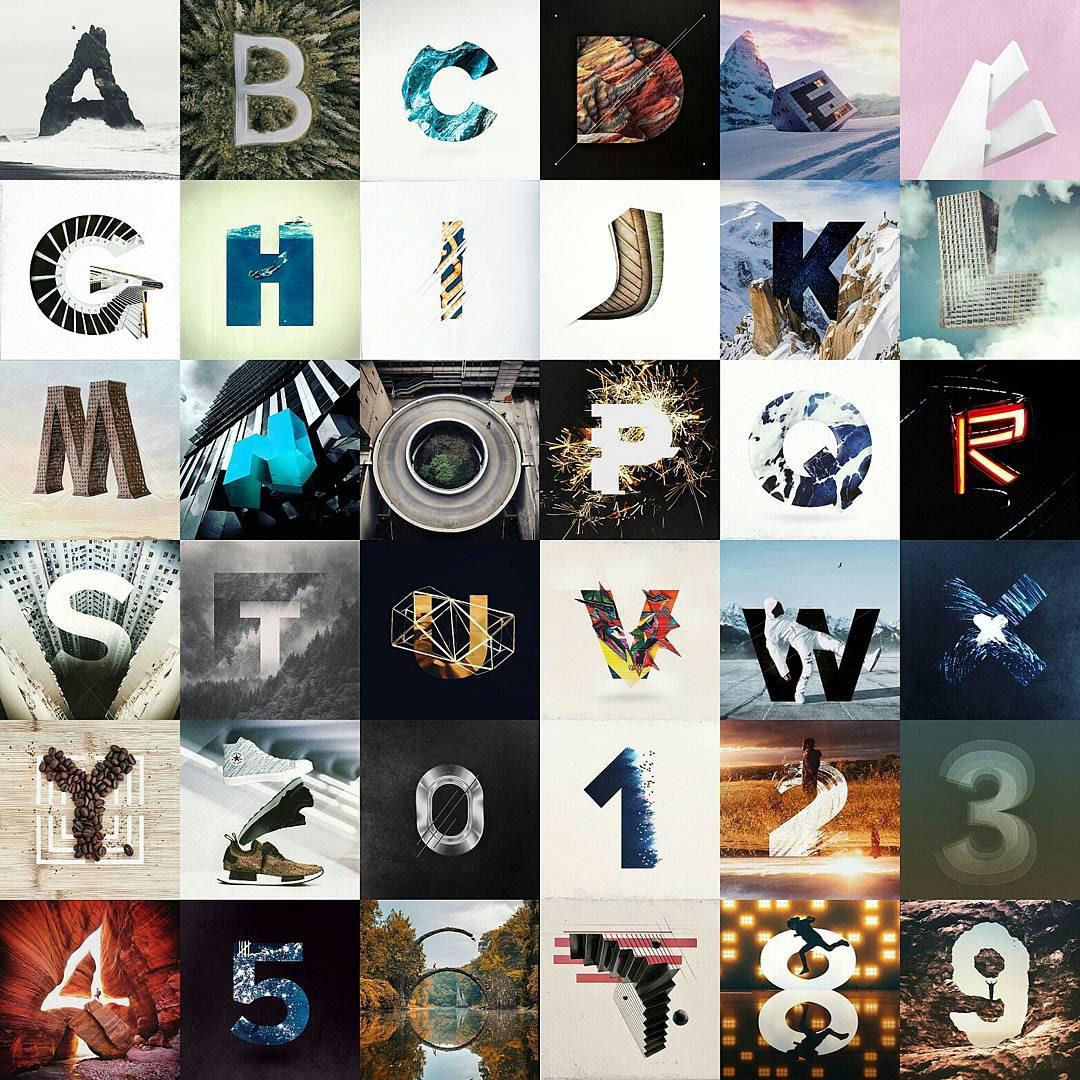 36daysoftype typography   design art mixed media graphic design  creative Creative Direction  instagram