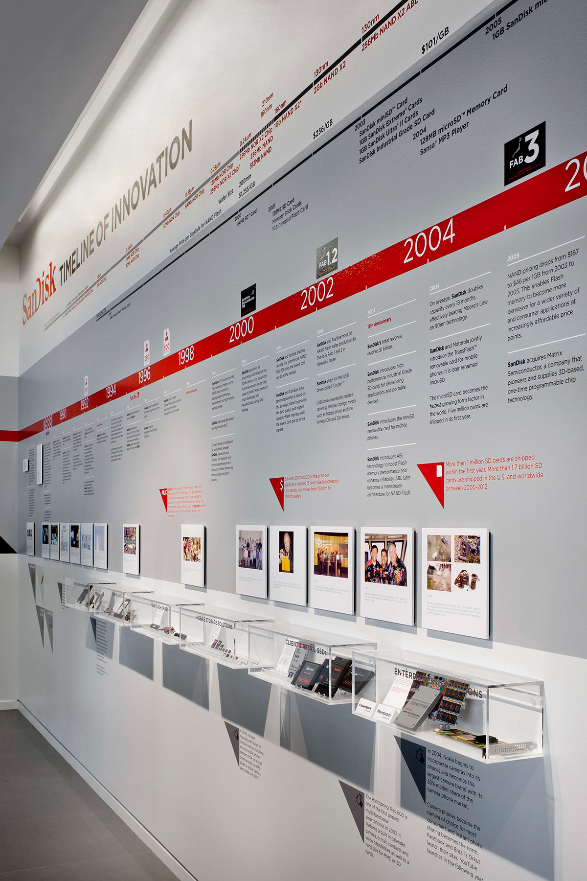 Three installations sandisk hq with vdta on behance for Office design exhibitions