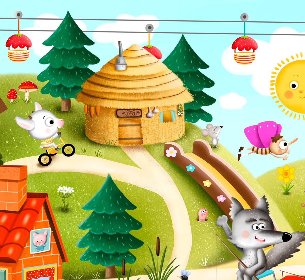 animal bookillustration Character children ChildrenIllustration cute digitalart fairytale Procreate
