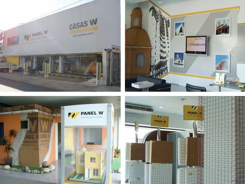 Panel W construccion sistema constructivo identidad publicidad  Showroom