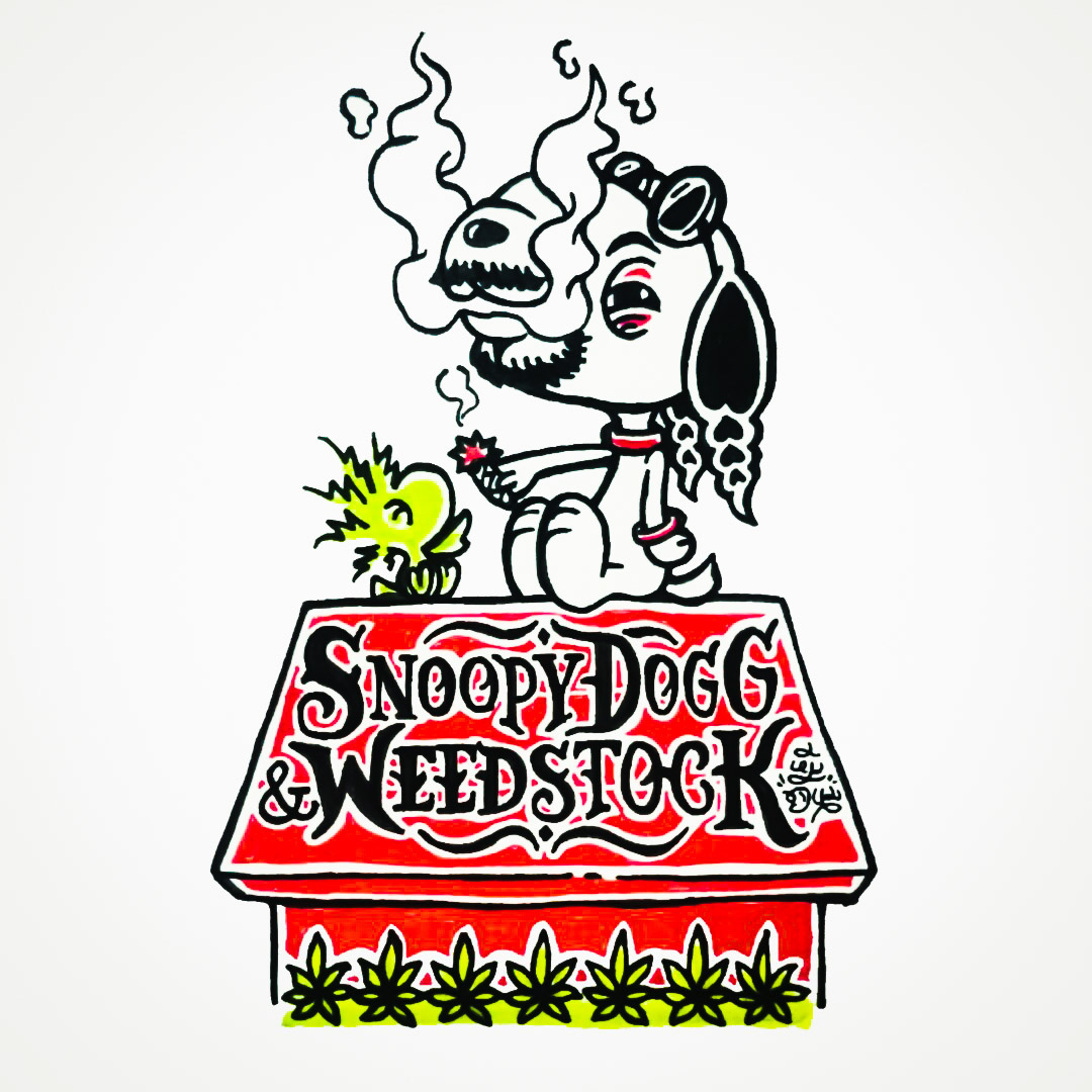 meehchanome babybean snoopy woodstock peanuts Snoop Dogg