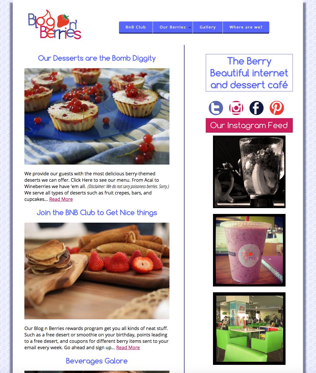 Blog n' Berries Restaurant on Behance