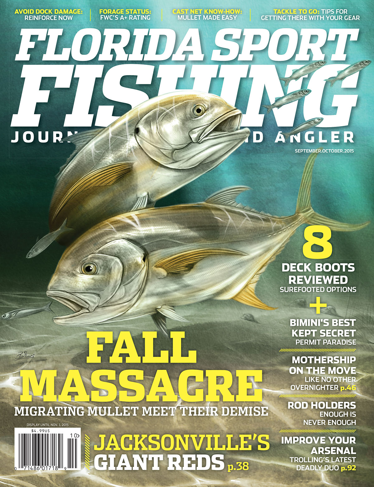 florida sport fishing cover editorial design on behance