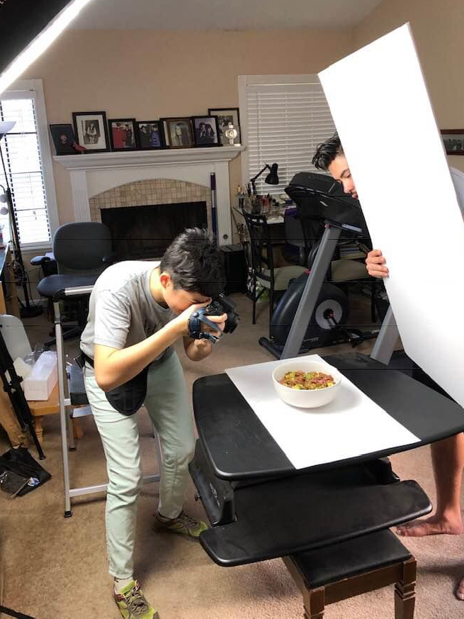 asian behind the scenes branding  Food  logo Photography  process business card