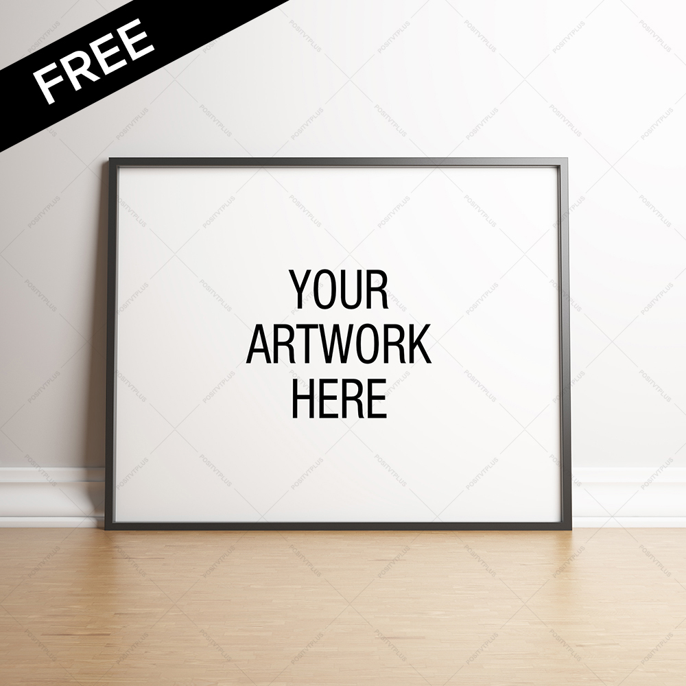 FREE Premium Poster Frame Mockup - Landscape on Behance