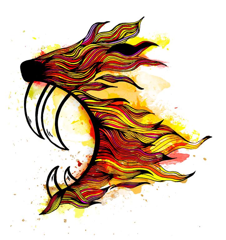 wild animal tiger Illustrator design art draw