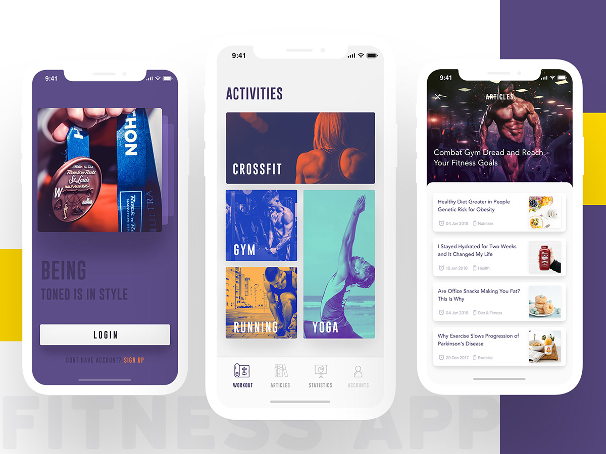 15 Ultimate UI/UX Designs of Fitness App - Get Inspired on