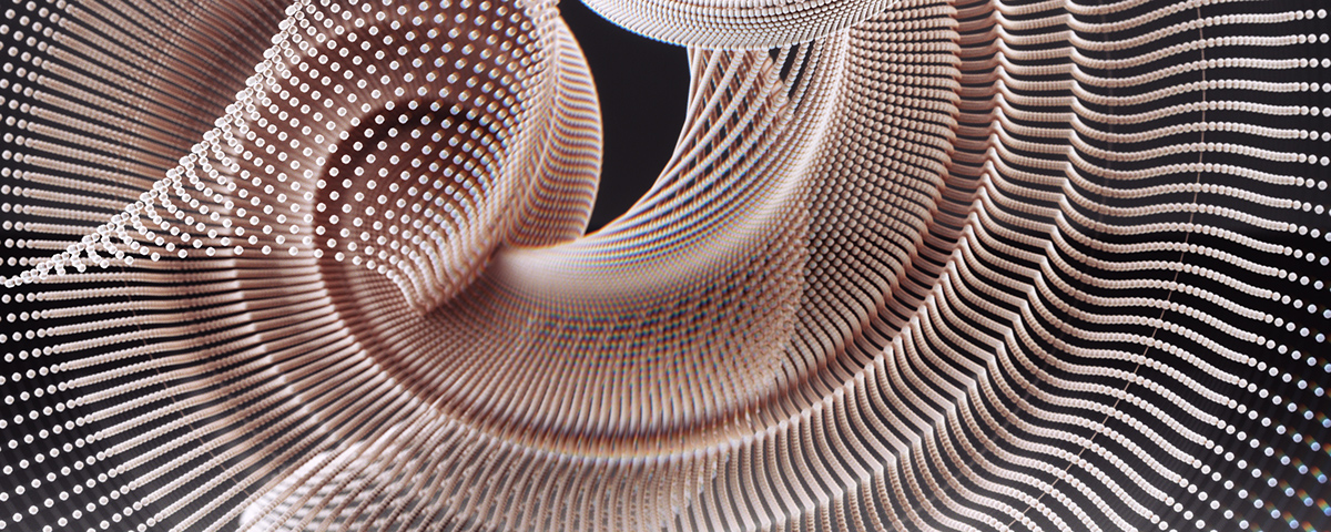 Adobe Portfolio unfold digital sculpture procedural art Cyberdelic parametric