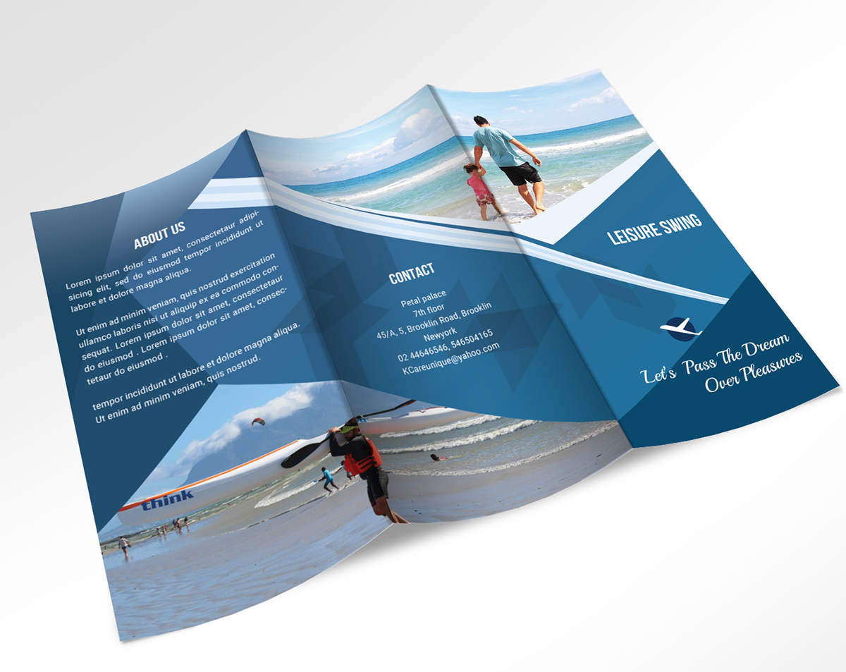Travel Travelling Leisure tourist tourism Holiday vacation Summer Vacation Travel Brochure holiday tri-fold brochure corporate tri-fold brochure Travel Agency Brochure tourist spots trifold brochure free travelling trifold brochure free holiday trifold