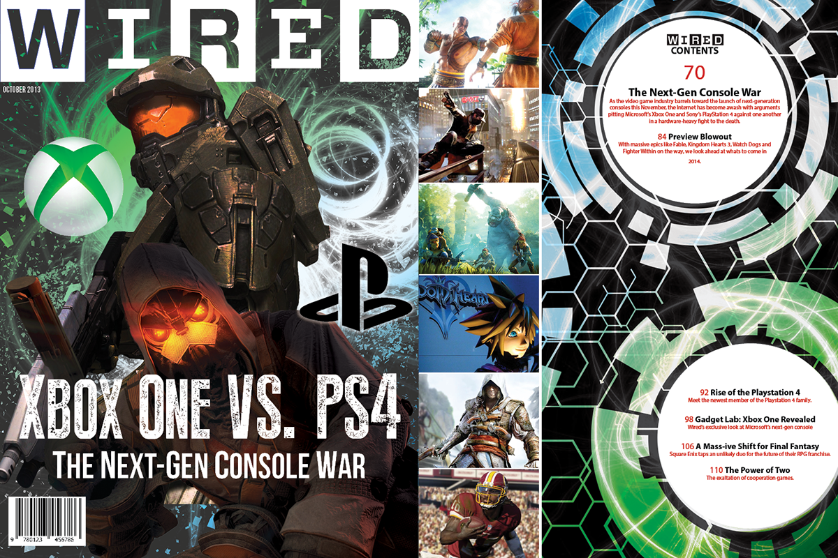 Wired Magazine Cover - Xbox vs Playstation on Behance