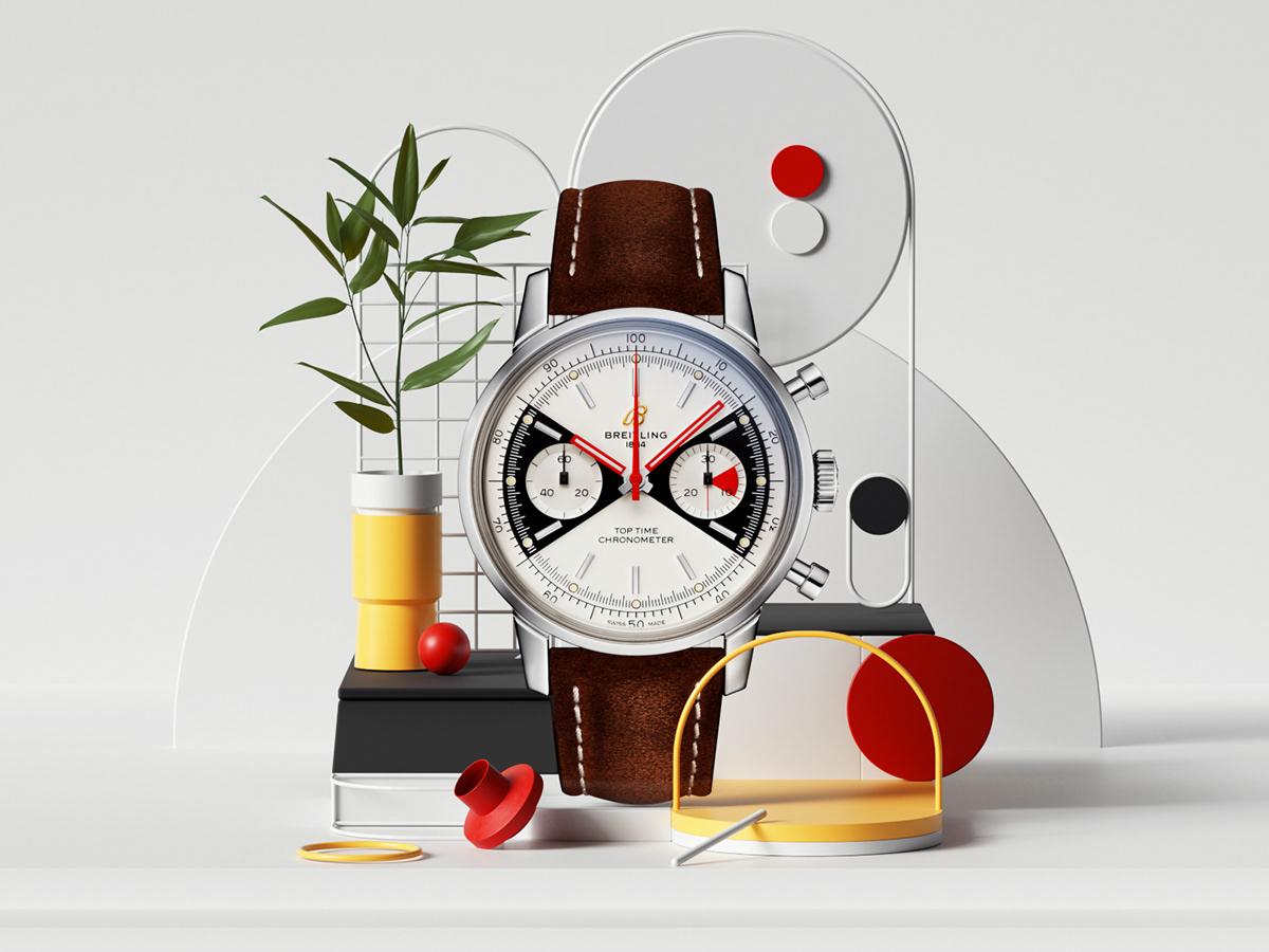 3D,Breitling,c4d,cinema4d,design,octane,petertarka,Render,swiss,watch