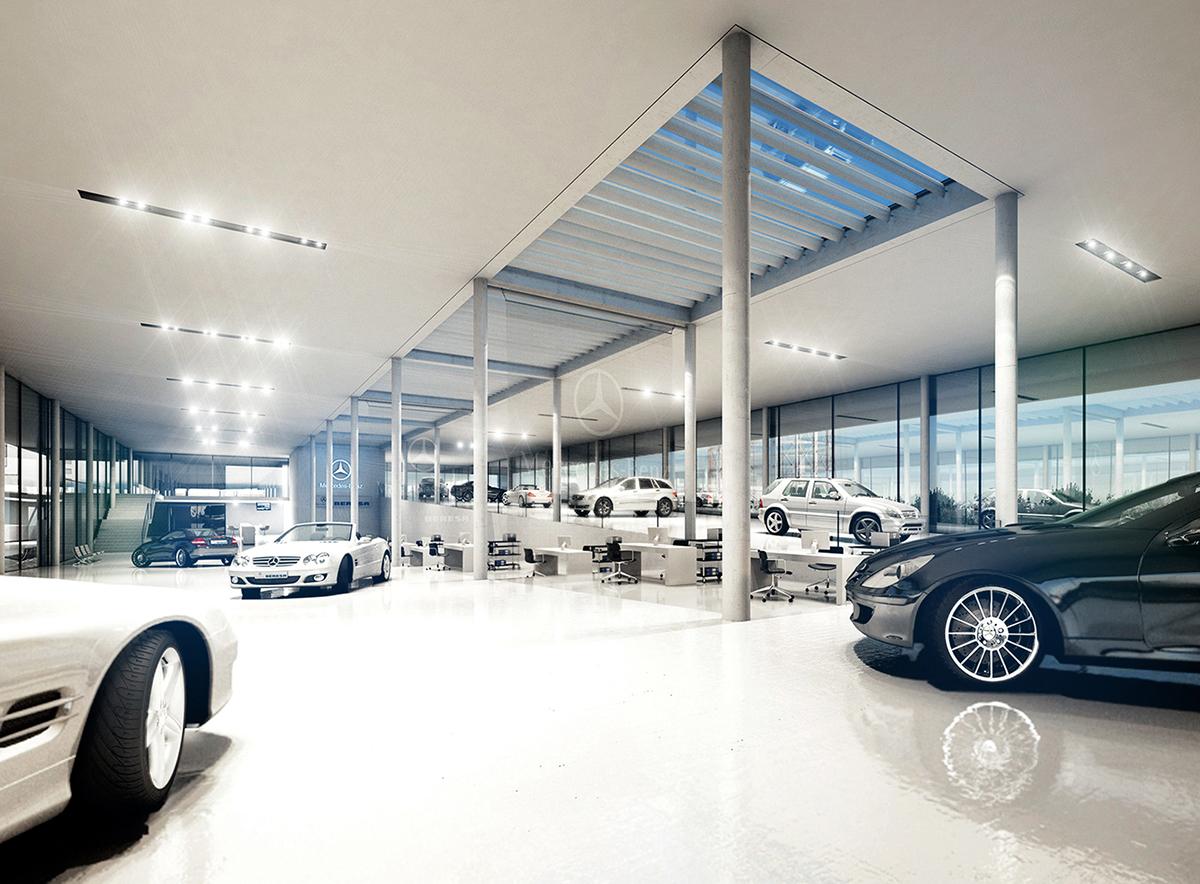 Car Showroom On Behance