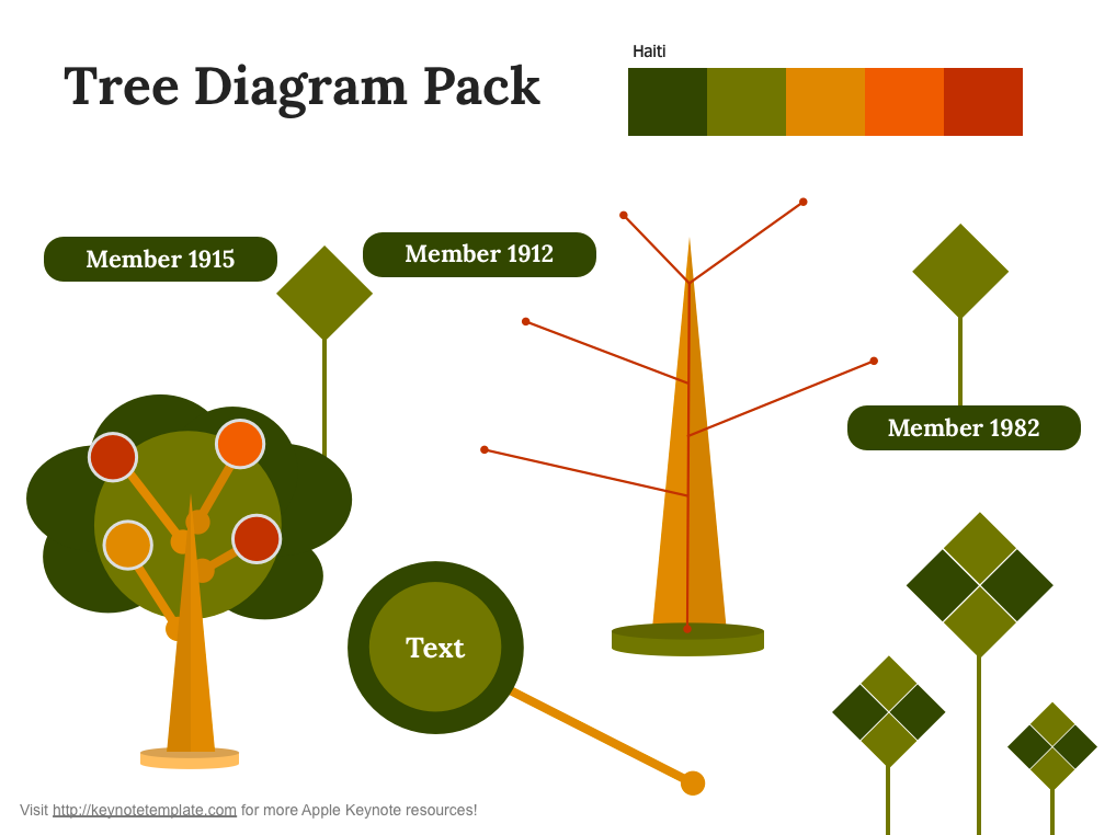 Free keynote tree diagram on behance ccuart Choice Image