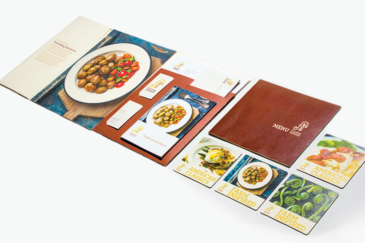 Founding farmers branding on corcoran portfolios for American cuisine restaurants in dc