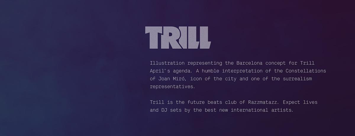 trill,cinema4d,ILLUSTRATION ,poster,barcelona,photoshop