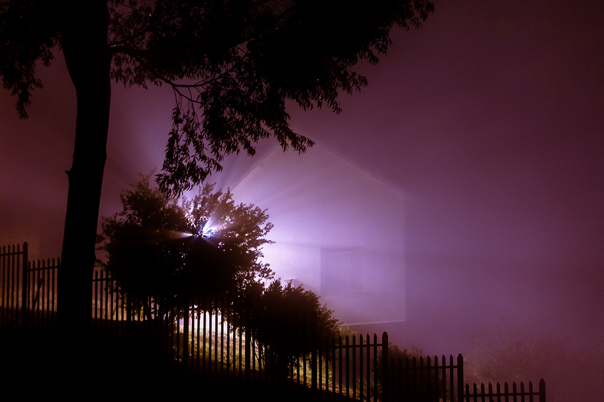 night photography lights fog mist night long exposure cape town Nature surreal
